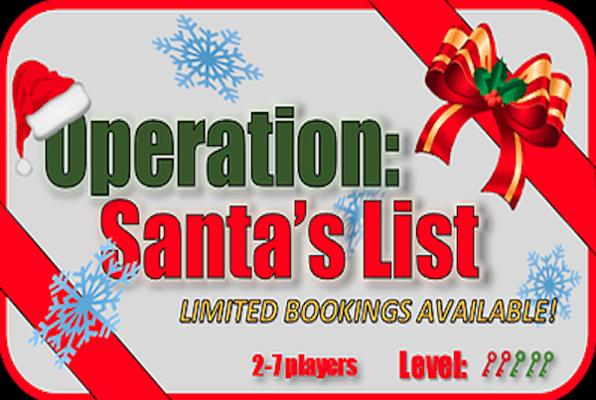 Operation: Santa's List (Back in Time Escape Rooms) Escape Room