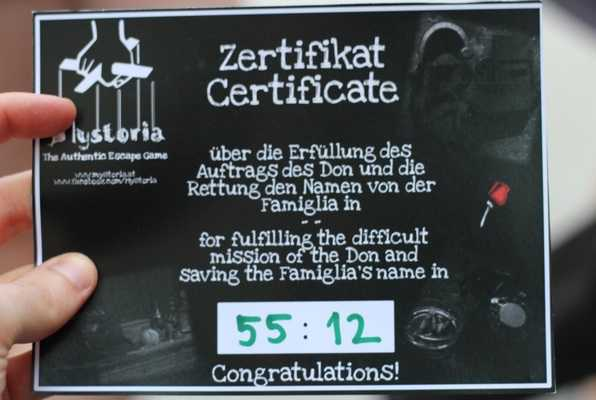 Die Rache des Don (Mystoria) Escape Room