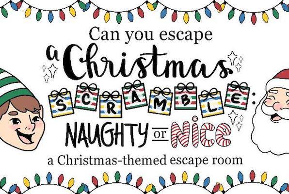 A Christmas Scramble: Naughty or Nice (Armadillo Escape Room Adventures) Escape Room