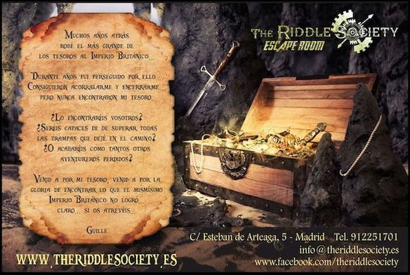 El Tesoro de Guille el Tuerto (The Riddle Society) Escape Room
