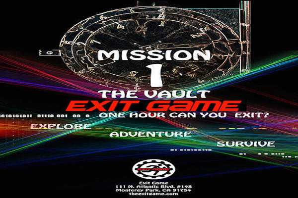 Mission 1. The Vault (Exit Game) Escape Room