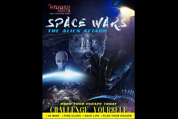 SPACE WARS - THE ALIEN ATTACK (The Hidden Hour) Escape Room